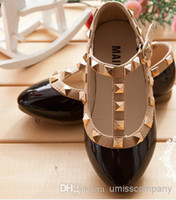 Wholesale European American size shoes for kids children latest Korean style patent leather shoes factory direct sale