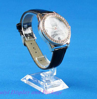Wholesale Fashion pretty plastic transparent watch display stand couple watches frame watch display bracket package