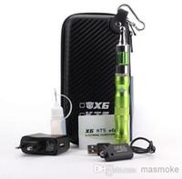 Single Multi Metal Wholesale - EGO X6 Pyrex Glass Protank 2 Electronic Cigarette E Cigarette Starter Kit with Pro Tank Atomizer and X6 Variable Voltage Battery
