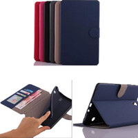 Wholesale Sandy skin wallet credit card slots stand folio leather case cover skin pouch for Samsung Galaxy Tab S T700 folio case