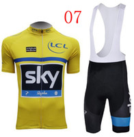 Wholesale top brand bicycle bodysuits SKY Cycling jersey Cycling Clothes short sleeve Bib pants Sets good quality