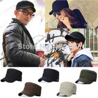 Wholesale New Classic Plain Vintage Army Military Cadet Style Cotton Cap Hat Adjustable