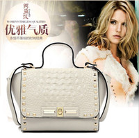 Cheap Brand new 2014 fashion women handbag Rock punk skull rivet designers shoulder bag PU leather women famous handbags