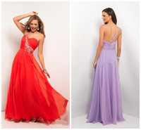 Wholesale 2014 Glamorous Designer One Shoulder Long Prom Party Dresses UK Evening Gown Crystal Beads Graduation Cocktail Dress Prom Dresses Party Gown