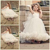 Cheap China Made Spaghetti Straps Flower Girl Dresses For Weddings Cute Girls Pageant Dresses Floor-length Girls Party Dresses Best Selling BH