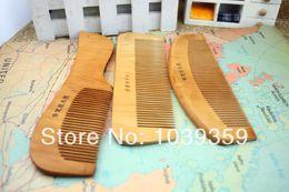 Wholesale Fine peach comb comb massage comb natural health mahogany hairbrush