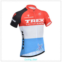 trek bike - 2015 New Trek Team Factory Racing Team Cycling Jersey Men Red Cycling Shirt Anti Wrinkle Bike Wear Short Sleeve Colorfast Polyester Top