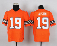 Cheap No. 19 Miles Austin Elite Orange Men's Jersey Cheap American Football Jerseys 2014-15 Season All Teams Football Shirts Outdoor Apparel Kits