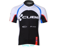 action wear - 2015 Cube Action Team Cycling Jersey Men Black Cycling Shirt Anti Pilling Bike Wear Short Sleeve Colorfast Polyester Breathable Tops