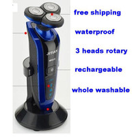 Male best razors men - 2016 New Professional Washable Rechargeable D Head Electric Shaver Men Shaving Razor with Holder best electrical razor blade