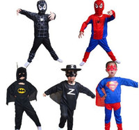 Wholesale Party Supplies Children s Superhero Costumes Halloween Costume Spider Man superman Batman Zorro Clothing Clothes Tights Cosplay Costume