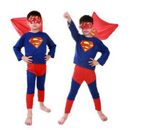 Wholesale Children Batman Zorro Spiderman Superman Costumes For Kids Zentai Superhero Zorro Suits Cosplay Clothes For Boys Girls S M L Size