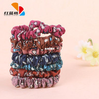 Cheap Yiwu HLG Korean fashion printed bow embellishment hair accessories hair ring wholesale small circle