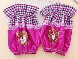 Wholesale new sleeve cuff bear children positioning cotton short cartoon printed sleeve cuff