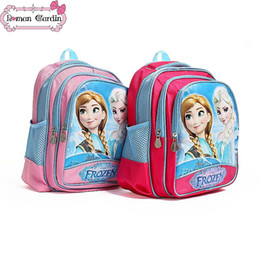 Wholesale 2014 girls boys frozen cartoon backpack children s Anna Elsa school bags kids bags gmy