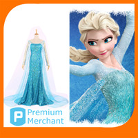 TV & Movie Costumes Women People Custom Size elsa frozen princess dress -- Plus Size Blue Elsa fantasia costume