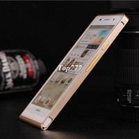 Cheap Case for Huawei Ascend P6 Luxury 100%Aluminium Bumper Free shipping mobile phone bags & cases Brand New Arrive 2014 accessories