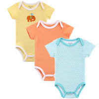 Cheap Unisex baby clothes Best Summer 100% Cotton baby summer clothes