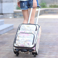 Wholesale 19 quot quot inch world map wheels Soft PU Luggage sets High quality Spinner luggage New Luggage Suitcase
