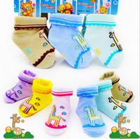 Wholesale W lace bottom giraffe newborn Socks Drop shipping baby socks pure cotton socks spring autumnkids sock Kids Clothing pairs J