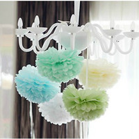 Wholesale 80pcs inches Tissue Paper Pom Poms Flower Pom Poms Paper Flower Ball Pick Your Colors Wedding Birthday Party decoration Craft