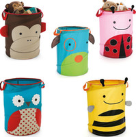Wholesale Children s Storage Bins Toys Storage Baskets Owl Bees Monkey Ladybug Folding Storage Boxes bucket Retail