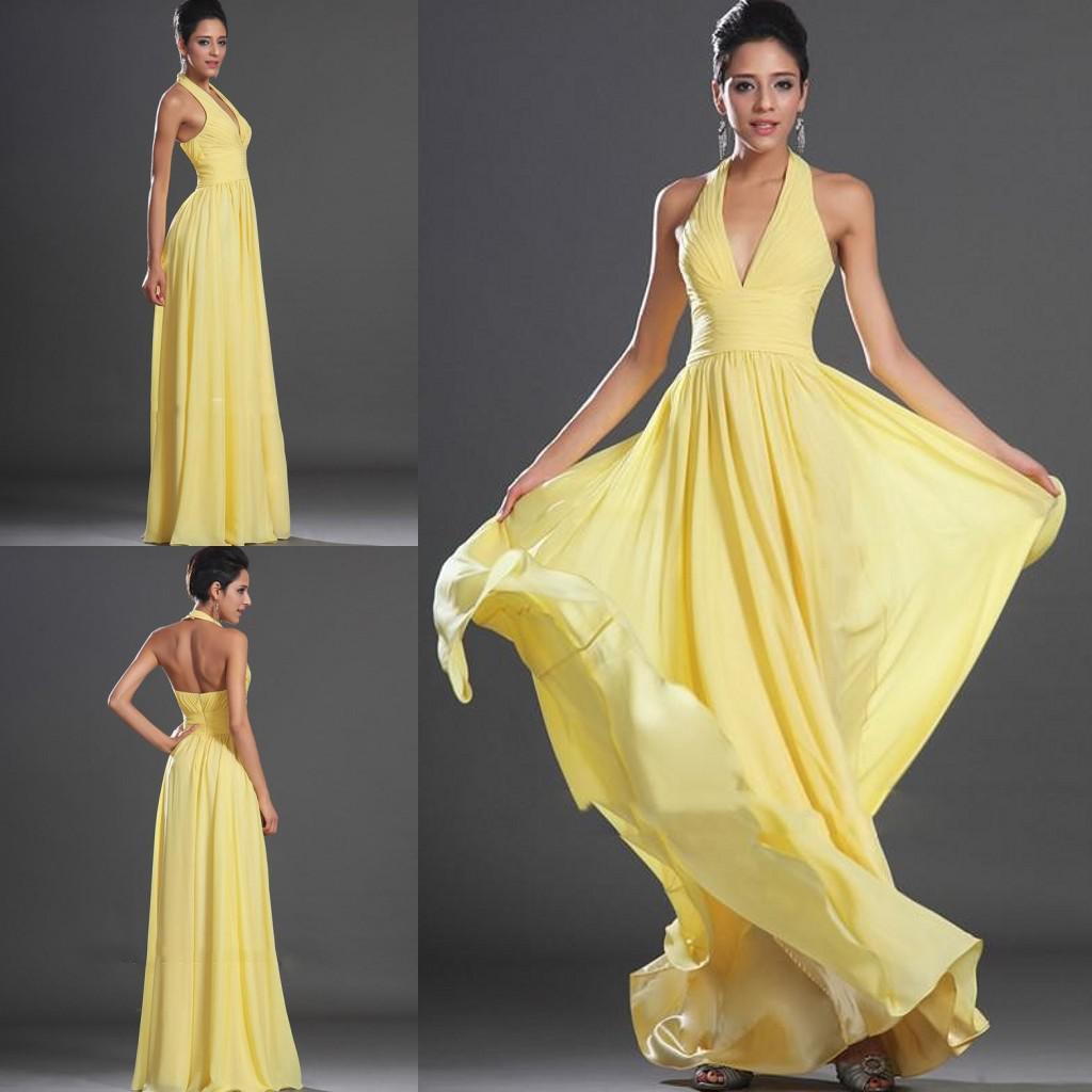 Купить Желтое Вечернее Платье