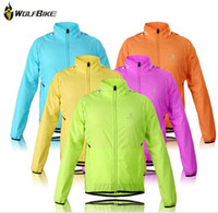 Anti Bacterial anti reflective - WOLFBIKE Tour de France Cycling Jersey Men Riding Breathable Jacket Cycle Clothing Bike Long Sleeve Vest Wind Coat cap