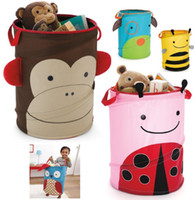 Wholesale Brand New Children s Storage Bins for Toys Storage Baskets Bags Boxes ZOO Owl Monkey Bees Hot Sale