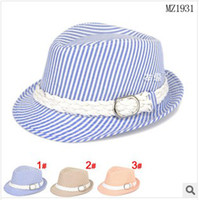 baby section - Children s caps baby kids classic wild section spaced stripes small hat boys girls hats dandys
