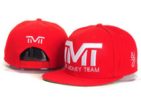 Wholesale Brand new TMT hats The Money Team snapback hats red top quality men amp women s adjustable baseball caps Freeshipping