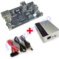 Wholesale New Arrival PC Cubieboard A20 Dual core Development Board with Power Cable SATA Wire USB to TTL Line