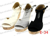 2014 free shipping new Women's casual Wedge sandals shoes sh...