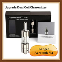 air tube valve - Top quality Kanger Aerotank V2 Air control valve V2 upgrade Dual Coil Clearomizer Atomizer Body with Pyrex Tube Aflow Adjustable atomizer