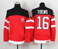 Cheap Mens #16 Jonathan Toews Red Jersey 1914-2014 Canadians 100th Anniversary Olympic Hockey Jerseys with IIHF Patch Ice Hockey Team New Jersey