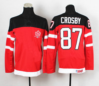 Cheap Sidney Crosby Jerseys 1914-2014 Canadians 100th Anniversary Olympic Hockey Jerseys with IIHF Patch Red #87 Winter Ice Hockey Teams Jersey