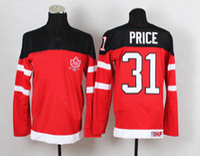 Cheap 1914-2014 Canadians 100th Anniversary Olympic Hockey Jerseys #31 Carey Price Red Jerseys IIHF Ice Hockey Uniforms Cheap Stitched Mens Jersey
