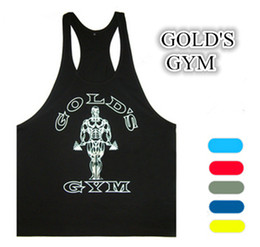 Wholesale Golds gym tank tops cotton sleeveless stringer vest bodybuilding brazilian fitness wear cheap price high quality mens underwear