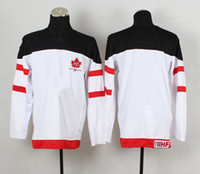 Cheap Canadians 100th Anniversary Olympic Hockey Jerseys Blank White Jerseys with IIHF Patch 2014 Brand Sports Jerseys High Quality Hockey Wears