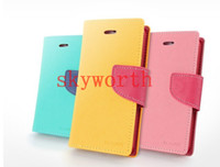 iphone 5 flip case - Mercury Wallet Flip Leather Case Cover ID Card Slot For iphone S S Samsung Galaxy S3 S4 S5 S6 G920 Note