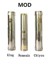 Electronic Cigarette Battery  Mechanical Mod Locking Bottom Button Adjustable King Nemesis Chi you Electronic Cigarette E Cigarette Mod fit 18650 battery mod clone vapors