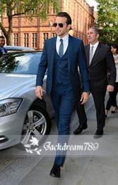Wholesale 2014 Groom Groomsmen Cool Tuxedos Best style New Fashion Mens wedding suits wedding suits for men Jacket Pants Vest Tie