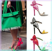 Wholesale Jun European Women Personality Wedding High Heels Colorful Butterfly Heeled Sandals Pumps Bow Patry Shoes Woman Bridal Pumps