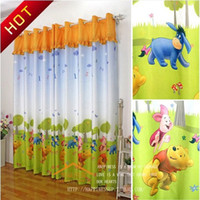 Wholesale Curtain Cortina free Delivery The Little Boy Cute Cartoon Teddy Bears Children s Bedroom Full Blackout Curtains Thicker Yarn Fabrics
