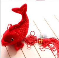 Cheap Carp fortune every year more than a mascot plush toy doll pillow New Year New Year's gift WJ061