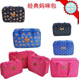 Wholesale The new Korean version of casual shoulder bag Polka Dot Mommy bag lunch bag handbag bag children s trumpet