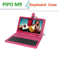 Cheap Russia letter support Leather keyboard Case for Pipo m9 original leather case for 10.1 inch Pipo M9 3G tablet pc free shipment