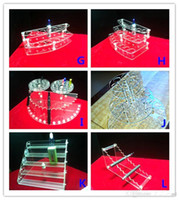 acrylic showcase - Electronic Cigarette Display Stand E Cigarette acrylic showcase ego holder rack Exhibition Shelf For Ego Battery Atomizer and E Liquid