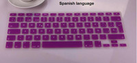 Wholesale German Russian Swedish France Spanish waterproof Keyboard Cover Clear Silicone Rubber For Macbook Pro Air Laptop Notebook EU Version