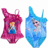 Wholesale New Frozen princess Swim Children Girls Swimsuit Bikini Wear One Piece Swim wear Bodysuit Frozen clothing Swimsuit Years Retails